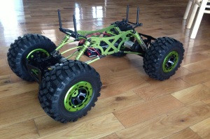 Meet Wallee. He's a remote controlled rock crawler that we can attach a Go Pro or a dSLR camera to.