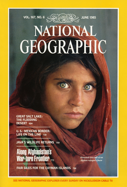 The cover of National Geographic's 125th anniversary edition. Their features on The Power Of Photography are a fabulous example of how photography can inform us, connect us, inspire us and motivate us to take action on environmental and social issues.