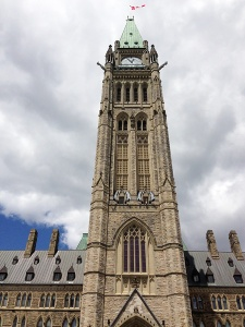 Day 1 - a visit to the Parliament Buildings in Ottawa.