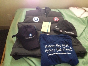 Our Students On ice swag. Gotta look good when you head out on an expedition! ;)